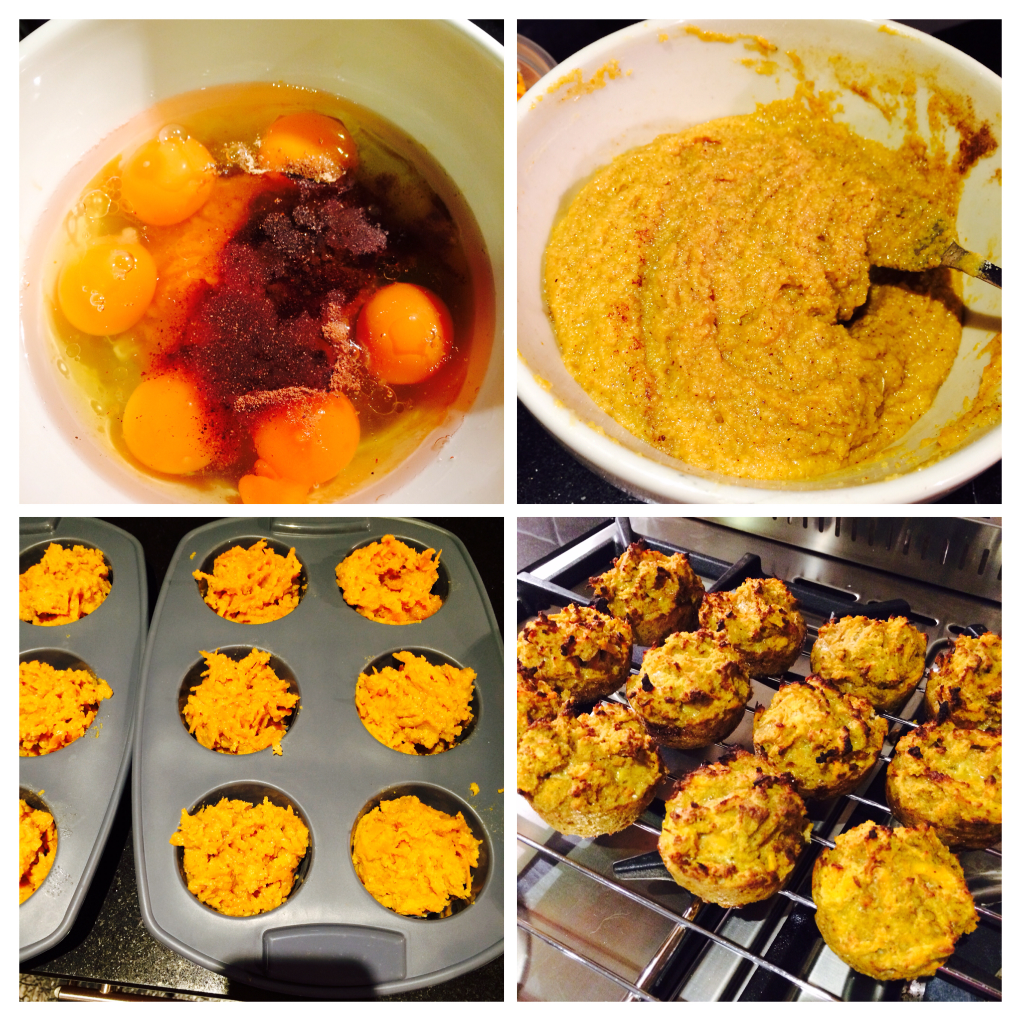 Pumpkin carrot spiced muffins